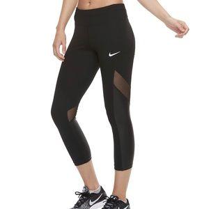 NWT Nike black mesh leggings Sz S